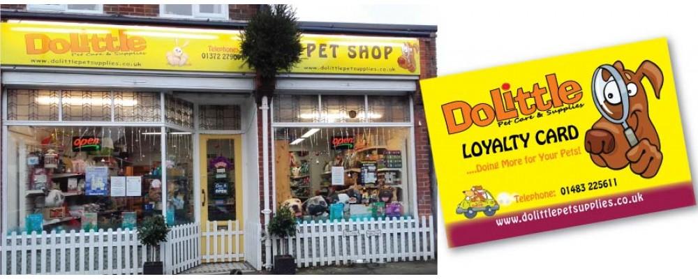 Dolittle Pet Supplies, Surrey, shop